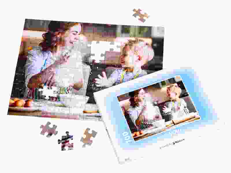 Puzzle box for your photo puzzle with 100 pieces