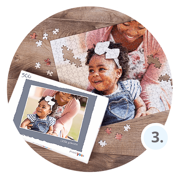 How to make personalized photo puzzle - Step 3