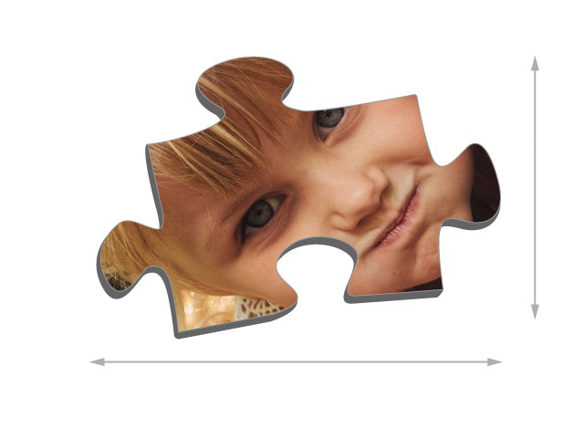 1000 pieces photo puzzle: Size of the puzzle pieces