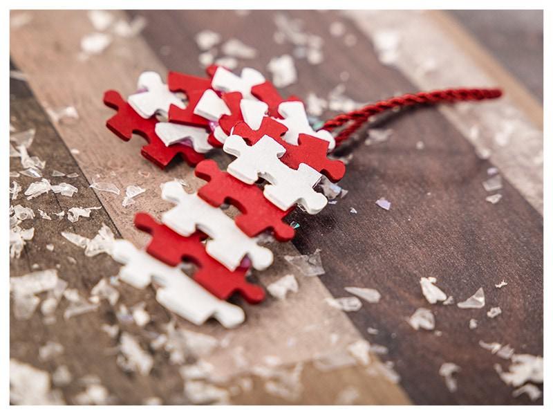 DIY Christmas decoration puzzle candy cane