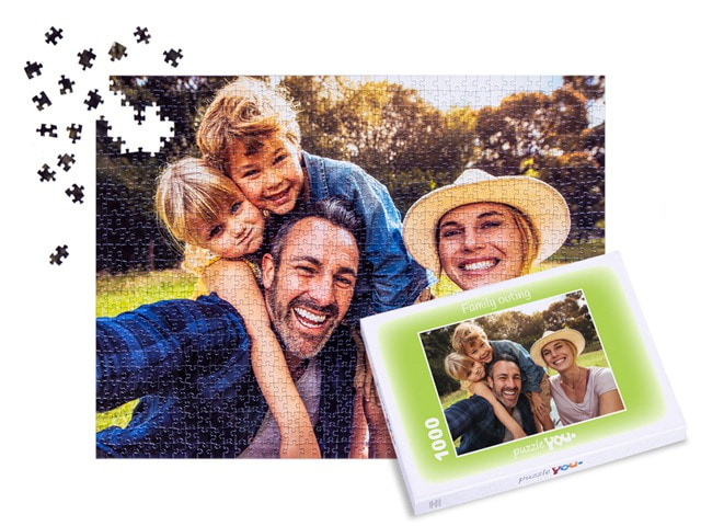 Your family pictures on a puzzle