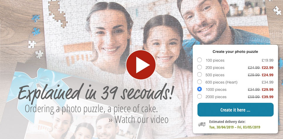 Photo puzzle ordering video