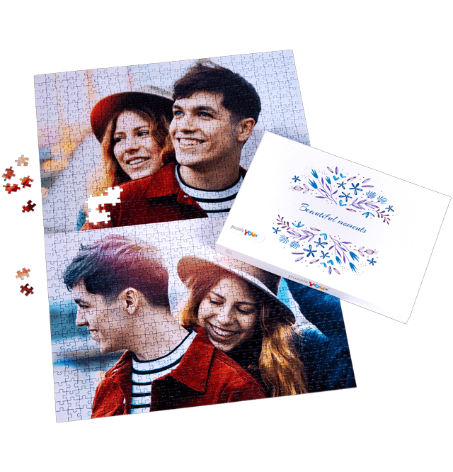 1000 pieces photo puzzle as a romantic gift