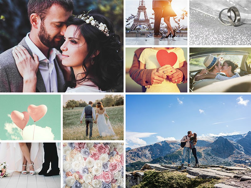 Photo Puzzle with Simple grid collage 10 Photos