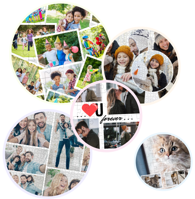 Treasure your pictures on a Photo Puzzle Collage