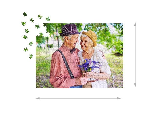500 pieces photo puzzle: Size of the assembled puzzle