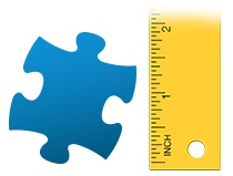 Size ratio puzzle piece photo puzzle 100 pieces