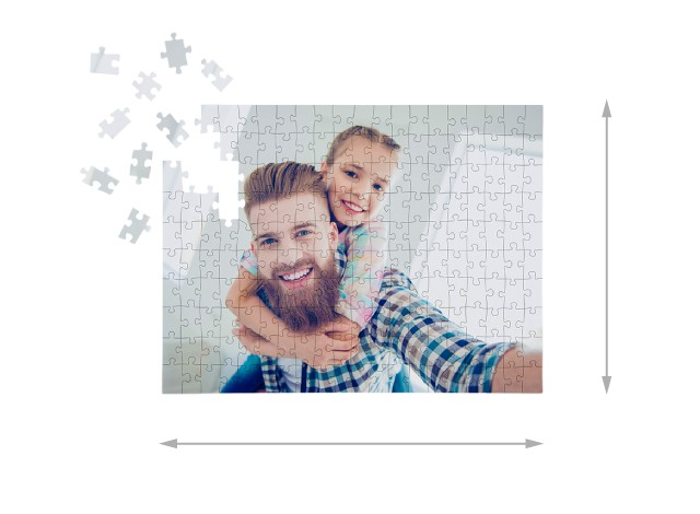 200 pieces photo puzzle: Size of the assembled puzzle