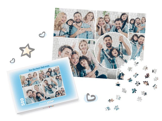 Photo Puzzle Collage for Father's Day