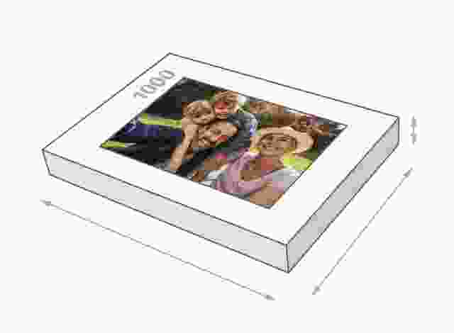 Photo puzzle with 1000 pieces box size