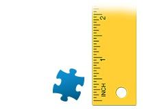 Size ratio puzzle piece photo puzzle 500 pieces