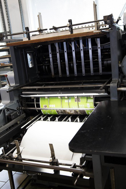 Cutting the prints for puzzle boxes