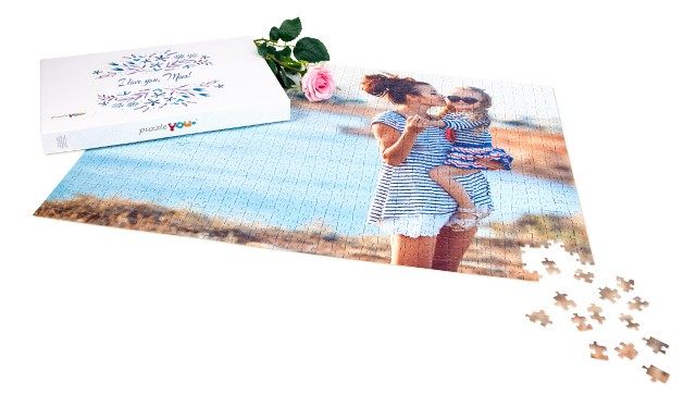 Personalized photo puzzles with matching box
