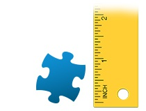 Size ratio puzzle piece photo puzzle 200 pieces