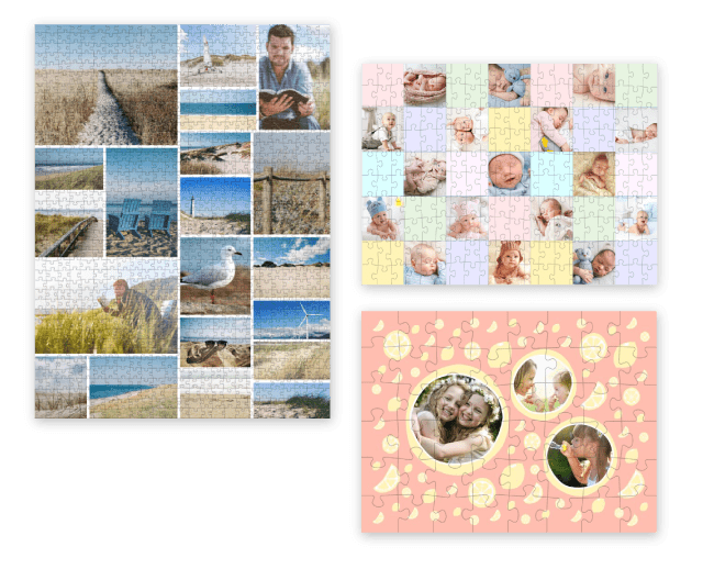 Different Photo Puzzle Collage layouts