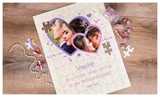 Your gift voucher as a jigsaw puzzle