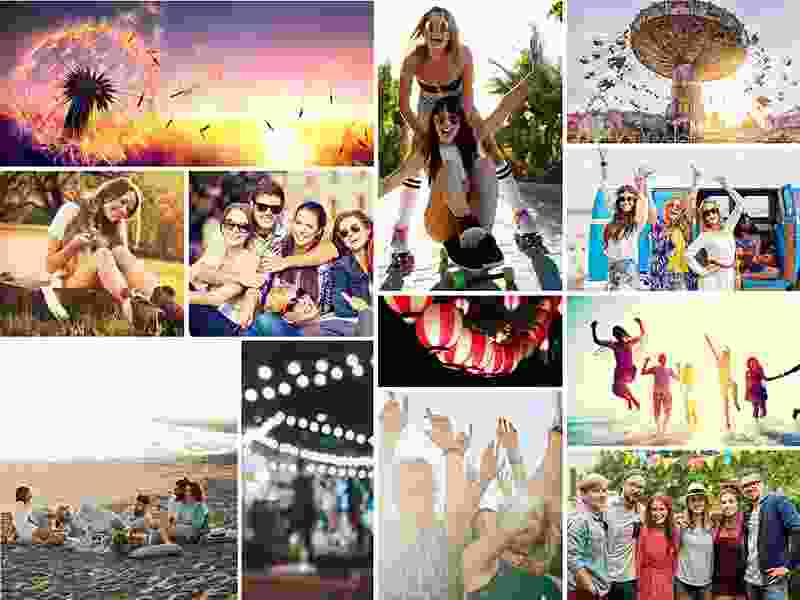 Photo Puzzle with Simple grid collage 12 Photos