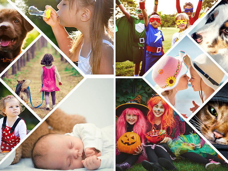 Photo Puzzle with Artistic grid collage 10 Photos