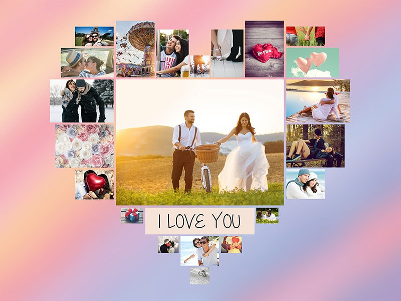 Photo Puzzle with Message collage 22 Photos