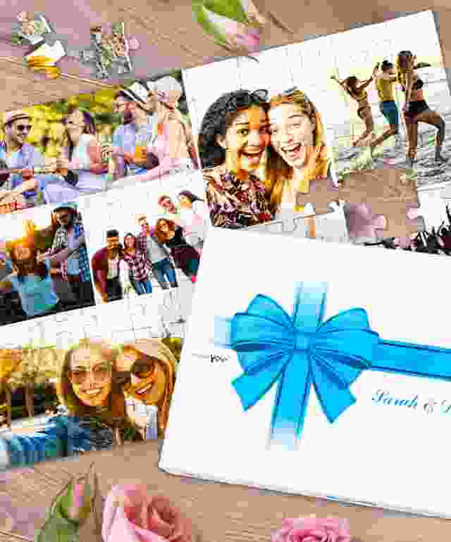 Create a photo collage as wedding gift