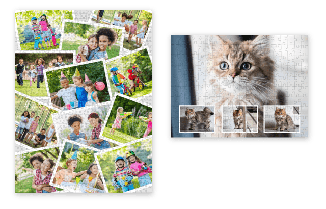 Make a Photo Puzzle Collage with family pictures