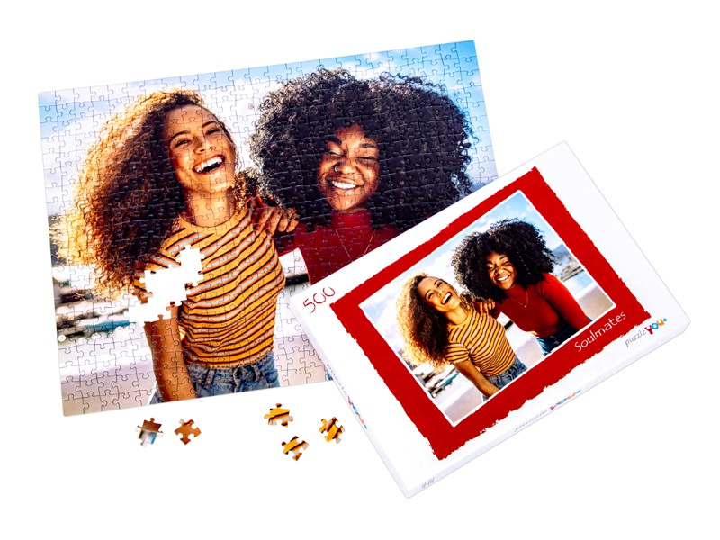 Puzzle box for your photo puzzle with 500 pieces