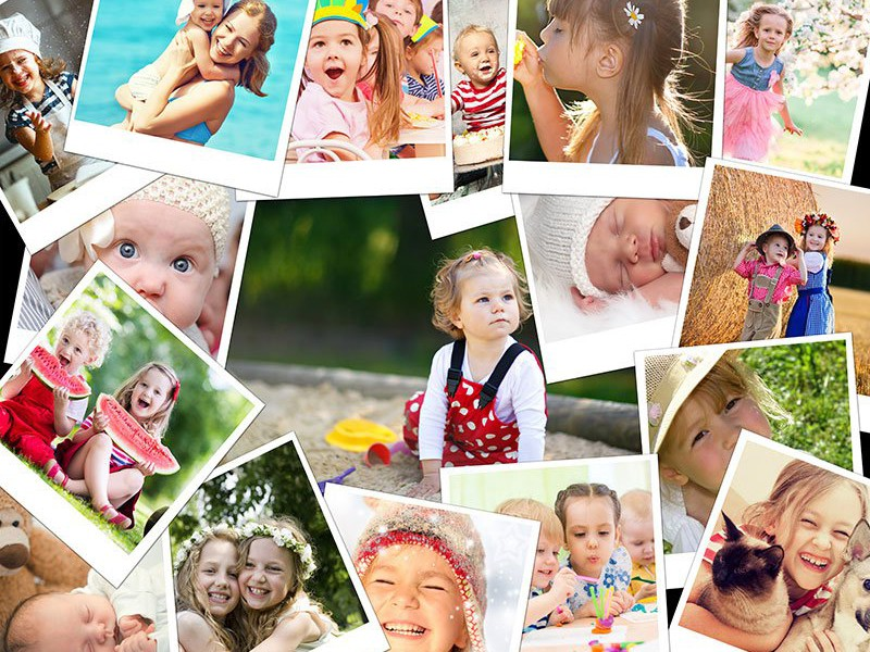 Photo Puzzle with Overlapping collage 17 Photos