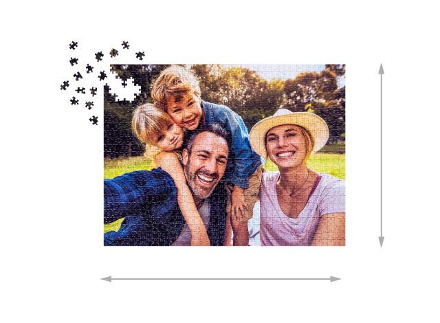 1000 pieces photo puzzle: Size of the assembled puzzle