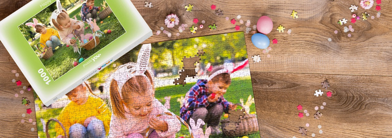 Personalized photo puzzles - the perfect Easter gift