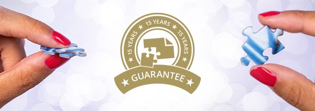Personalized photo puzzles with 15-year guarantee