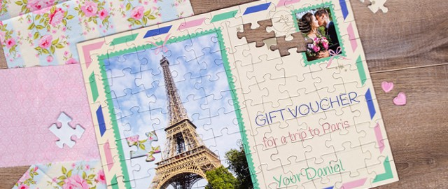 jigsaw puzzle as a gift voucher
