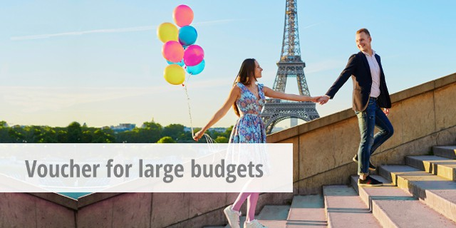 Voucher ideas for large budgets