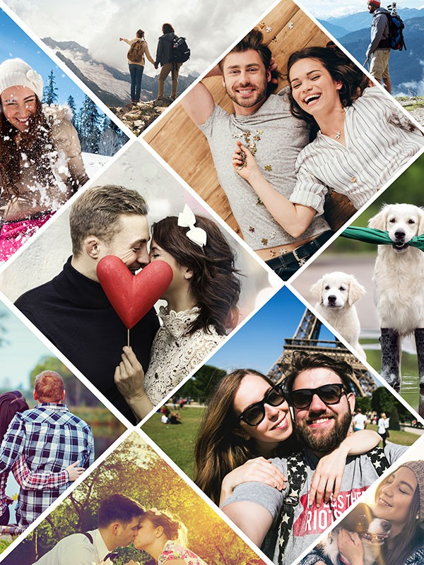 Photo Puzzle with Artistic grid collage 11 Photos