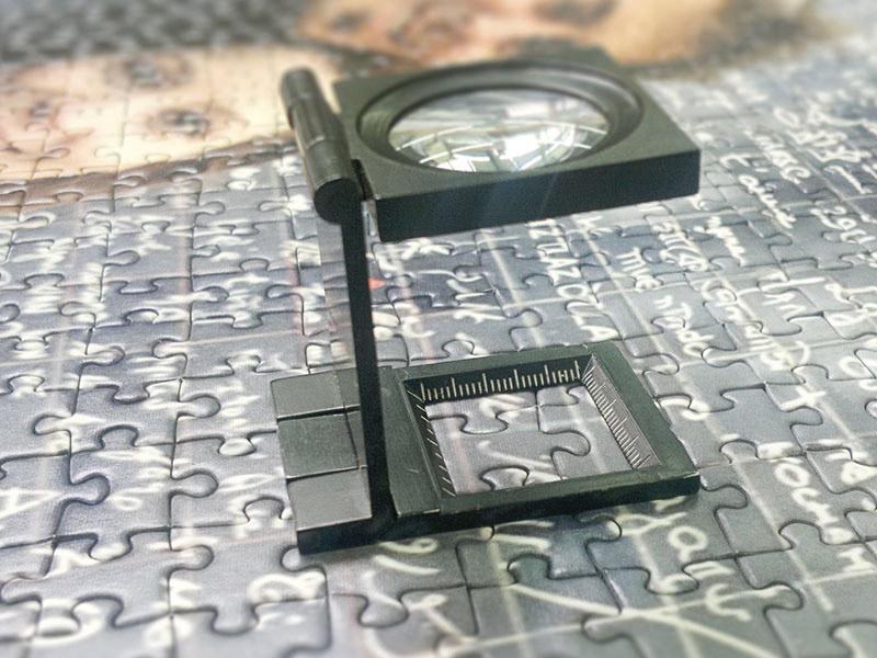 Photo puzzle in digital printing