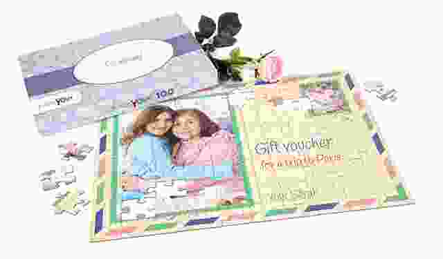 gift voucher as a jigsaw