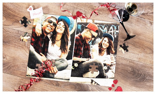 Show your love on a Photo Puzzle Collage