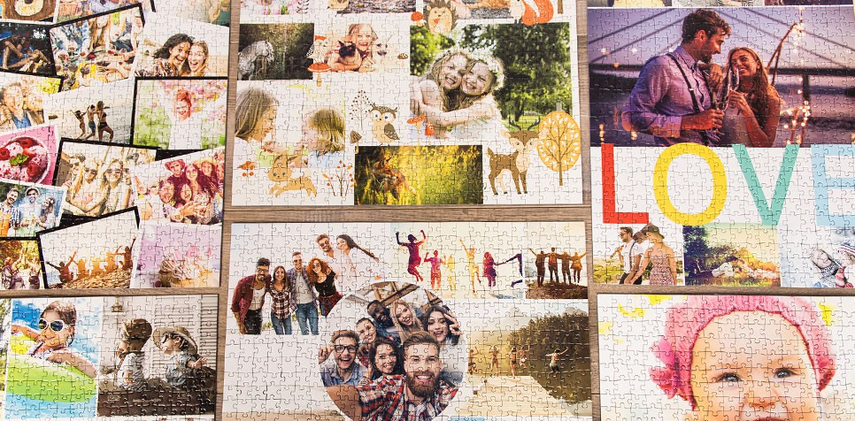 Teaser Photo Puzzle Collage Layout-Overview
